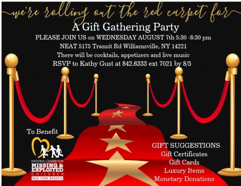You're Invited: Gift Gathering Party to Support The National Center for Missing and Exploited Children Buffalo